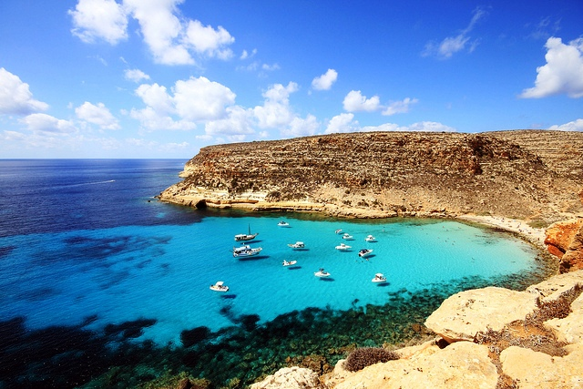 Rabbit Beach In Lampedusa One Among The Most Beautiful Beaches Of