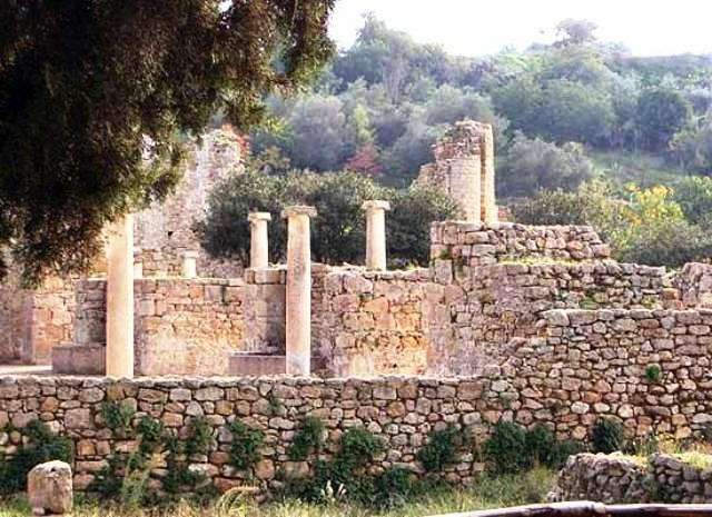 villa romana del casale ruins