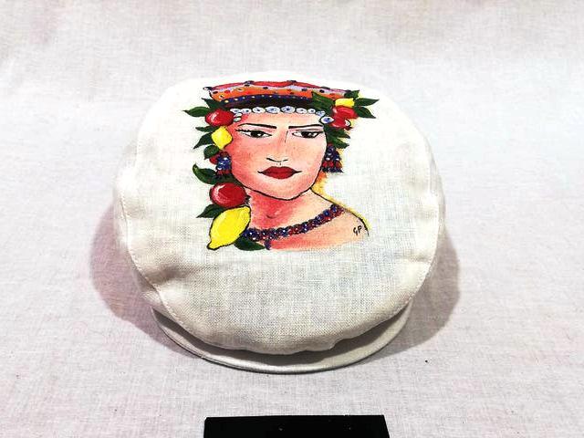 Sicilian coppola hat painted
