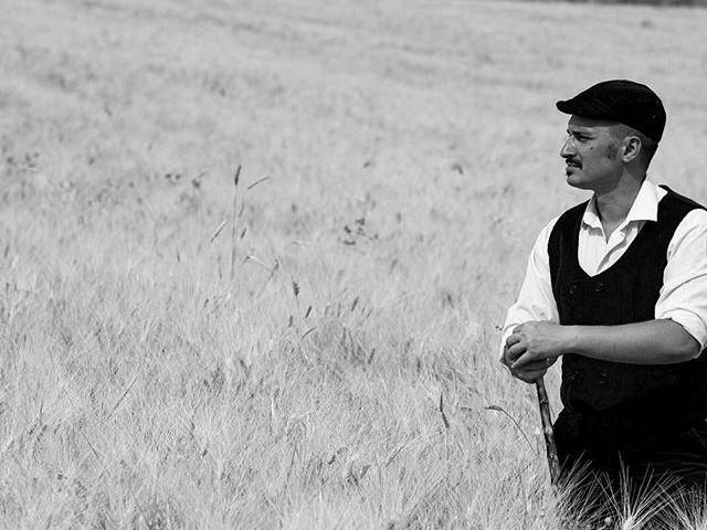 Sicilian farmer with coppola